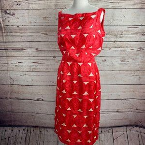 Vintage Capri Imports Bazaar Log Pile Print Dress